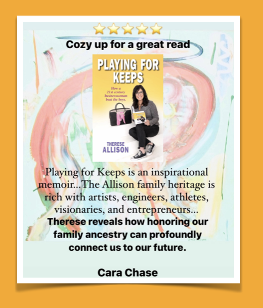 Therese Allison Playing for Keeps Book Review Cara Chase in Business