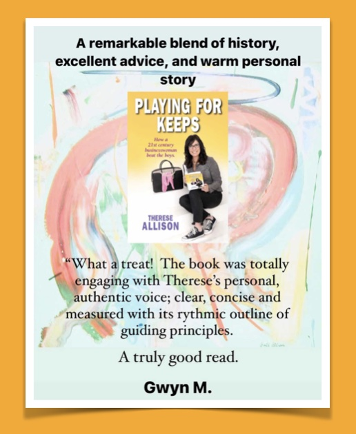 Therese Allison Playing for Keeps Book Review in Business